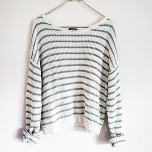 WILD FABLE striped oversized sweater size Large